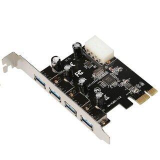 BGD Vl805 Chipset Pcie X1 Thẻ Riser 4 Cổng Usb3.0 Sang Nguồn 4 Cổng Usb3.0 4 Pin thumbnail