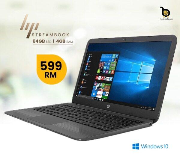 HP Stream Laptop PC  Intel N4000, 4GB RAM, 64GB SSD, Windows 10, Webcam And More... Malaysia