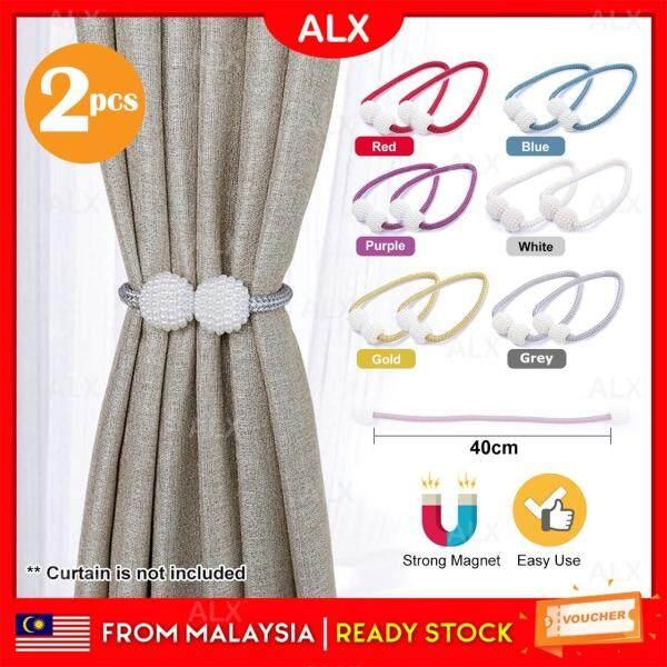ALX BORONG Malaysia Malaysia 2pcs Premium Pearl Design Magnetic Curtain Holder Buckle Tieback Clips Home Window Accessories Pengikat Langsir