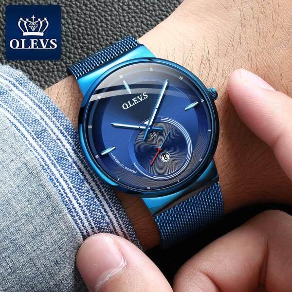 Nơi bán Olevs Đồng hồ nam thời trang Hợp thời trang đồng hồ đồng hồ kim-điện tử Dây đeo bằng thép không gỉ Đồng hồ thạch anh chống nước