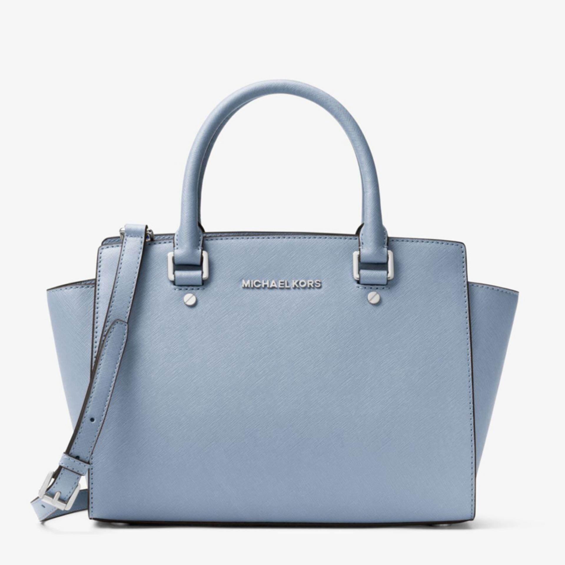 24ca3ddec9 Michael Kors Selma Medium Saffiano Leather Satchel - Pale Blue