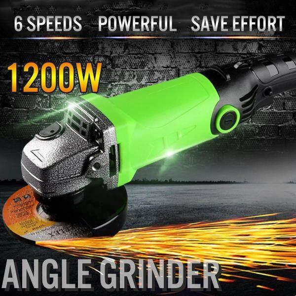 MOD.5107 1200W Multi-Fungsi Pelarasan Kelajuan Sudut Grinder Pemotongan Penggilap