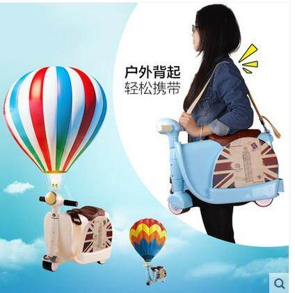 Childrens suitcase two-in-one Multi-function trolley box motorcycle childrens trolley luggage