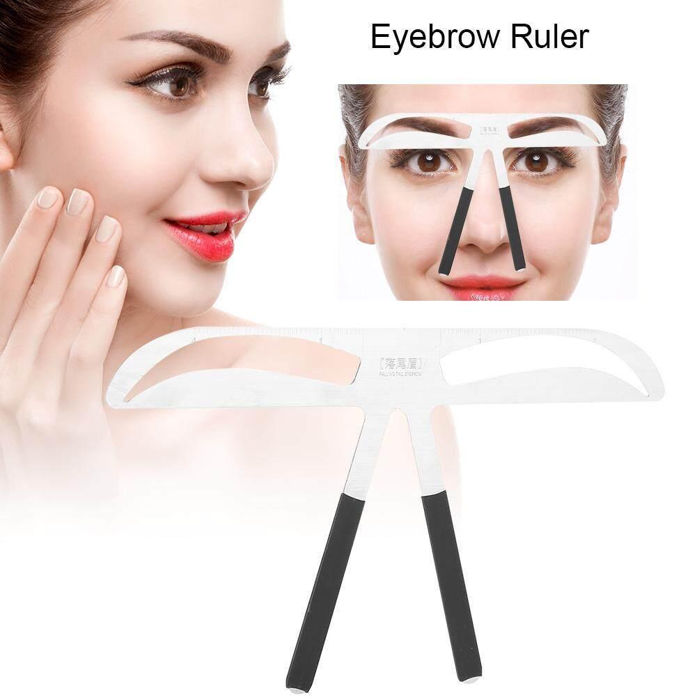 Gaya 2 Stensil Pembentuk Alis Makeup Tato Alis Permanen Keseimbangan Templat Penggaris