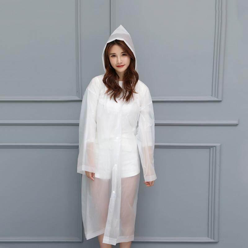 Jas Hujan Sekali Pakai Wanita Modis Korea Perjalanan Luar Ruangan Transparan Tebal Ponco Tahan Air By Cadia Store.