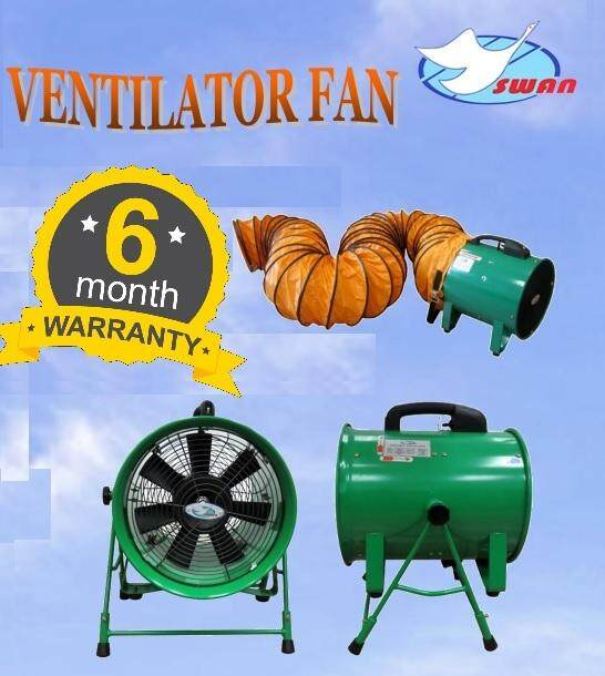 Swan 520W 12 Ventilator Blower with 5mtr Flexi Duct Hose, Ventilator Blower