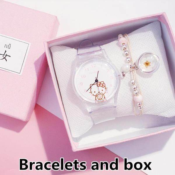 Hello Kitty Fashion Kids Watches Cute Children Waterproof Girls Watch Silicone Strap Lovely Cartoon Student Quartz Wristwatches Gifts Malaysia