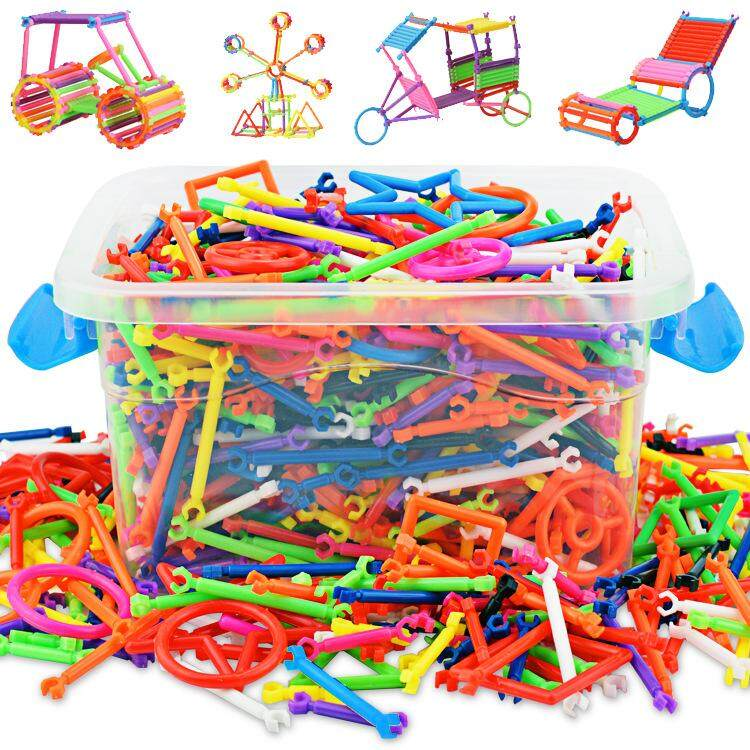 300 Pcs Kids Building Blocks Toy Set With Box Flexible Mixed Shape Sculpting Sticks Diy Educational Toys By Cenblue Story.