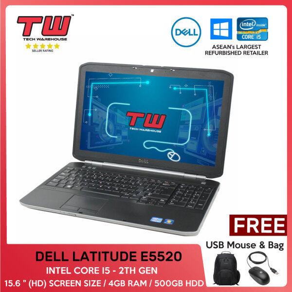 BUDGET LAPTOP / DURABLE LAPTOP / DELL LATITUDE E5520 / INTEL CORE I5 - 2ND GEN / 15.6 / 4GB RAM / 500GB HDD / WEBCAM Malaysia
