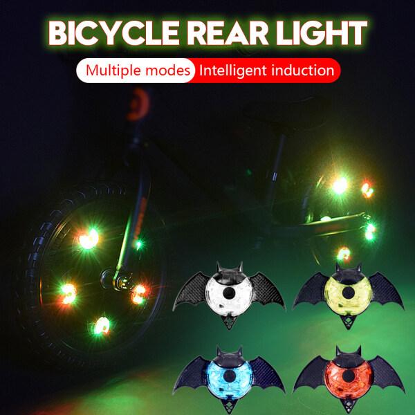 Đèn Đuôi Xe Đạp Hình Con Dơi Đèn Hậu LED Sáng Tự Động Bật/Tắt Cảm Biến Ánh Sáng Thông Minh Cho Xe Đạp, Dễ Dàng Clip Ống Phuộc Trên Nan Hoa Cho Ban Đêm Đi Xe Đạp An Toàn