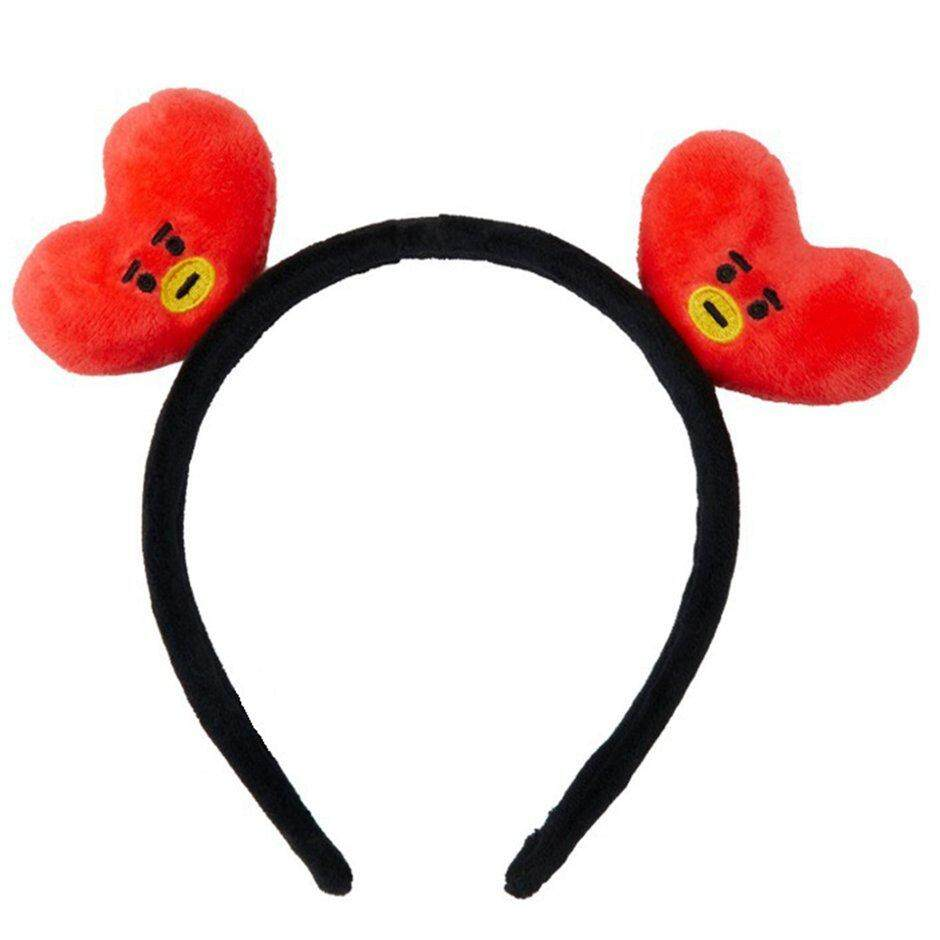 Elec Bt21 Portable Mini Elastic Hair Band Cartoon Headband Bangtan Boys Fans Hair Band Plush Hair Accessories Unisex By Electron3c