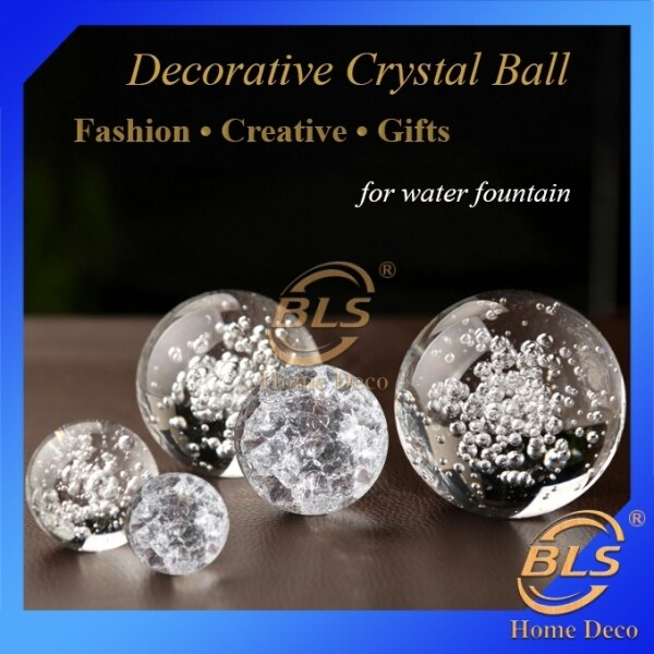 WATER FOUNTAIN CRYSTAL GLASS BALL FEATURE ACCESSORIES