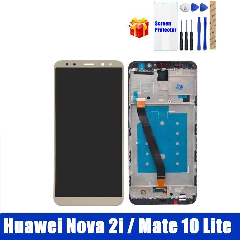 100% Tested For Huawei Nova 2i LCD Display With Frame For Huawei Mate 10  Lite RNE-L22 Complete Touch Screen Panel Nova2i LCD Digitizer Assembly 6 26
