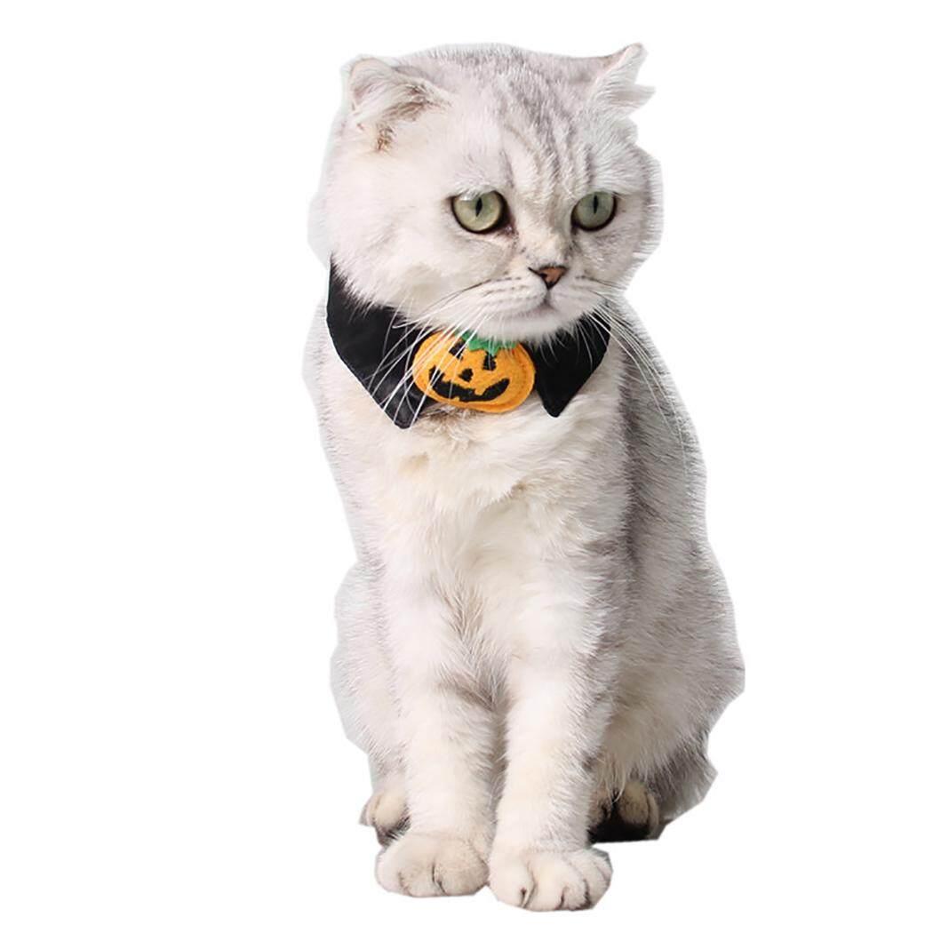 Nơ Đeo Cổ Sáng Tạo Bí Ngô Thiết Kế Mèo Cà Vạt Mèo Cổ Trang Trí Trang Phục Hóa Trang Halloween cho Mèo - 3