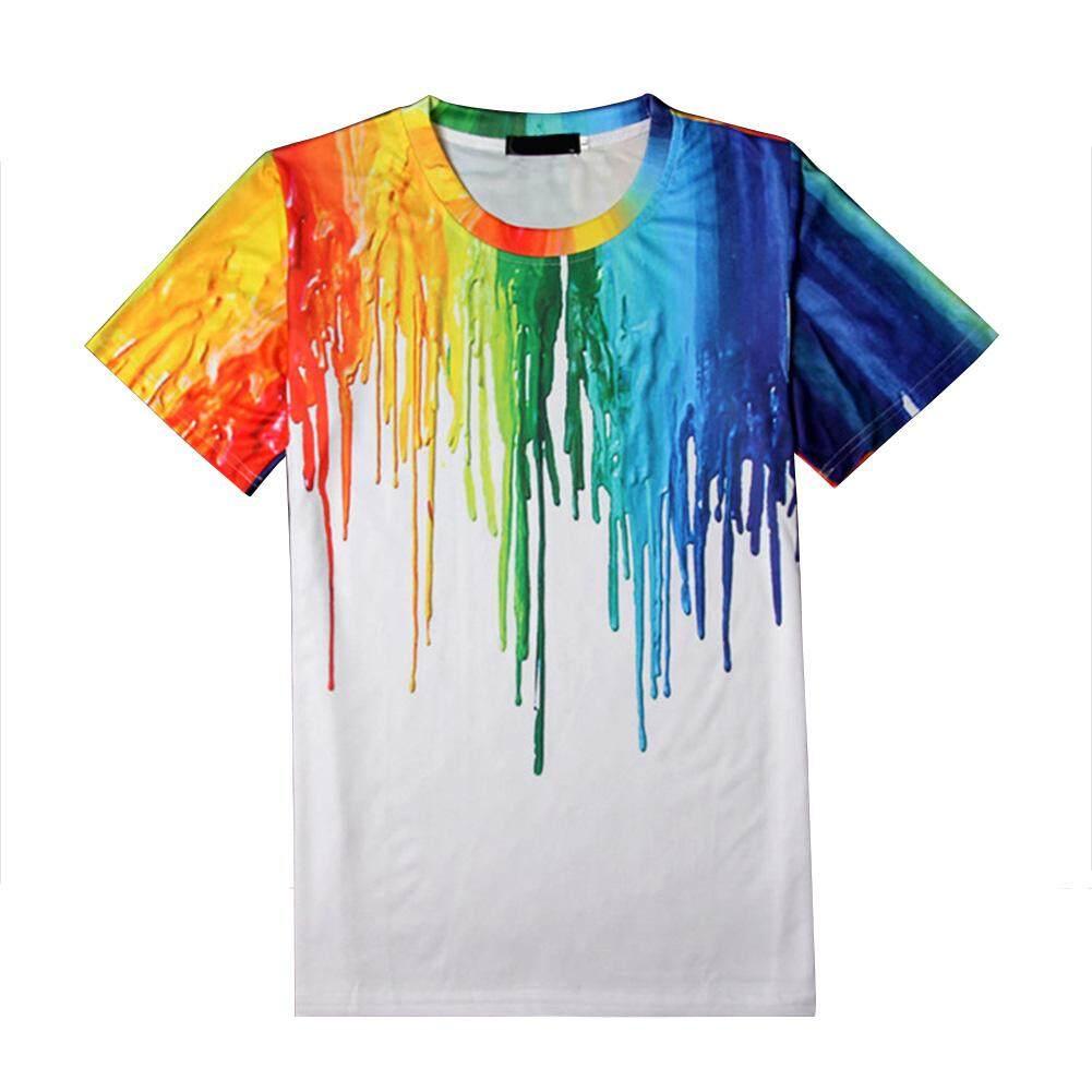 Summer T-Shirt 3D Digital Printing Colorful Pigment Printing T-shirt