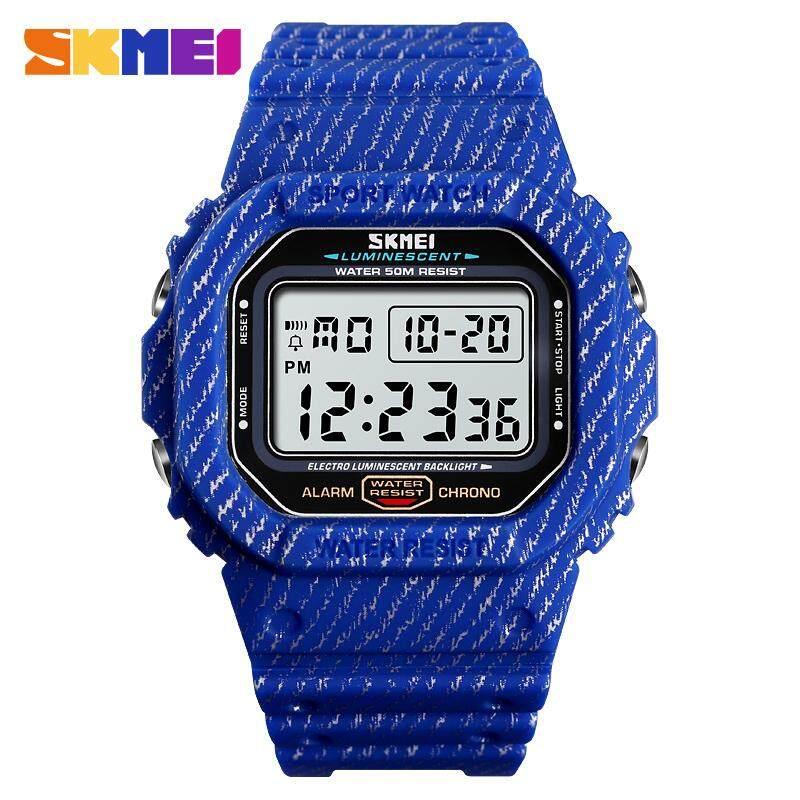 SKMEI Men Watch Digital Watch Outdoor Sports Watch Waterproof Stopwatch Chronograph Alarm Clock Military Men Wristwatch Malaysia