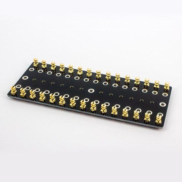 1PC Audio Turret Board Strip Tag Board Terminal Lug Board Solder Gold Plated Copper Screw Type Audio Vintage Tube Amplifier Malaysia