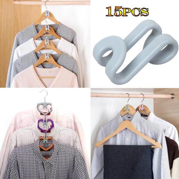 EQxcelllrhy 15Pcs Creative Mini Flocking Clothes Hanger Home Easy Hook Closet Organizer