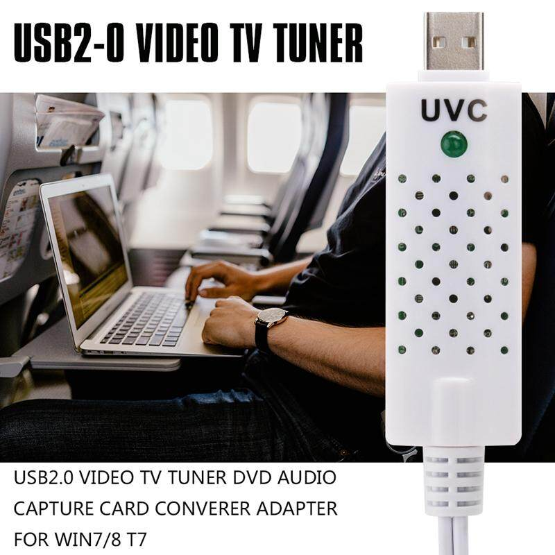 USB2.0 Video TV Tuner DVD Audio Capture Card Converer Adapter for Win7/8 T7