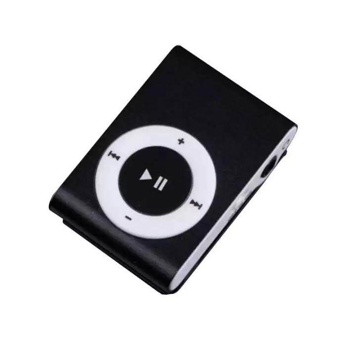 Kim Loại Mini KẸP USB MP3 Âm Nhạc đa Phương Tiện với Khe Cắm Micro Hỗ Trợ 1-Micro SD 32 GB Thẻ TF (KHÔNG BAO GỒM) đen/Bạc/Xanh Dương/Đỏ