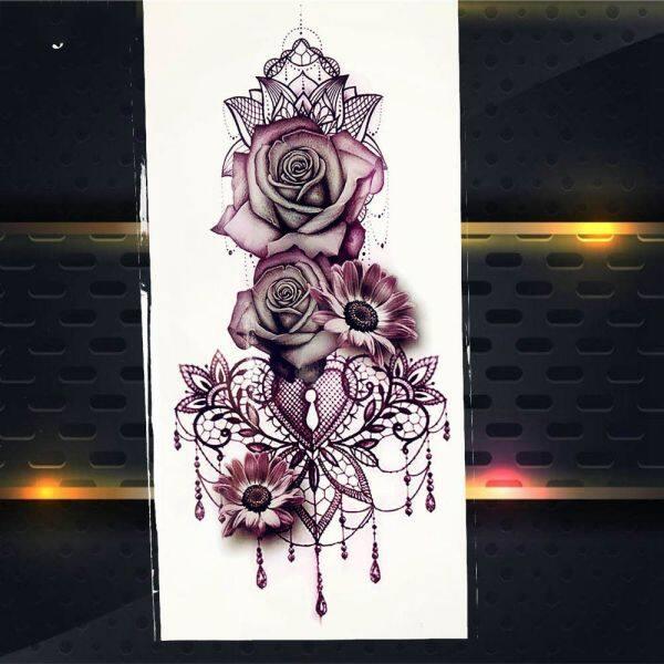 Vòng Eo Lady Stickers Flash Tatoos Chuyển Nước Hình Xăm Tím Rose Hình Xăm Tạm Thời giá rẻ