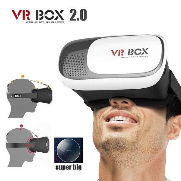 Giá Thực Tế Ảo VR Box 3D Kính Tai Nghe Phiên Bản 2.0 Cho Điện Thoại Smart Video Phim & Chơi Game