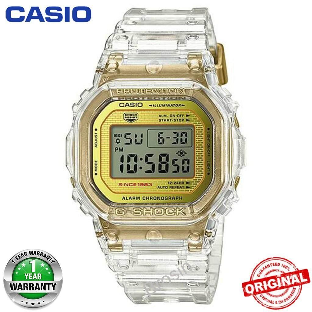 (Sẵn sàng Hàng) Casio_G-Shock_DW_5035E-7 Đồng Hồ Đeo Tay Nam Kỹ Thuật Số Thể Thao Trong Suốt Vàng DW_5035E-7 bán chạy