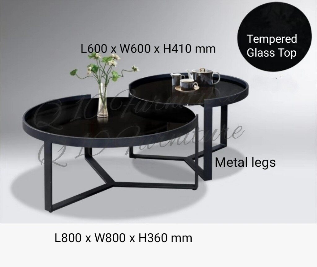 Picture of: Q 10 Modern Tempered Glass Top Coffee Table Tempered Glass Top Round Coffee Table Lazada