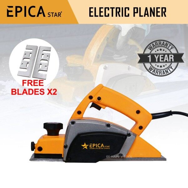 Epica Star Electric Planer 220V 500W Power Multi-Function 82mm Professional Wood Planer One Year Warranty Ready Stock