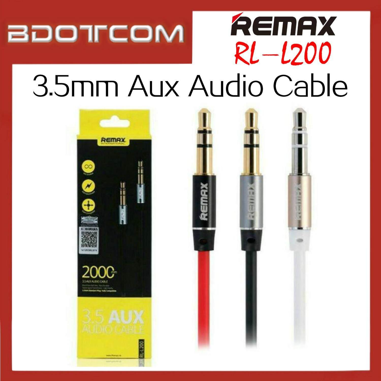 Remax 3 5mm Aux Audio 2000mm Cable - RL-L200 / Black