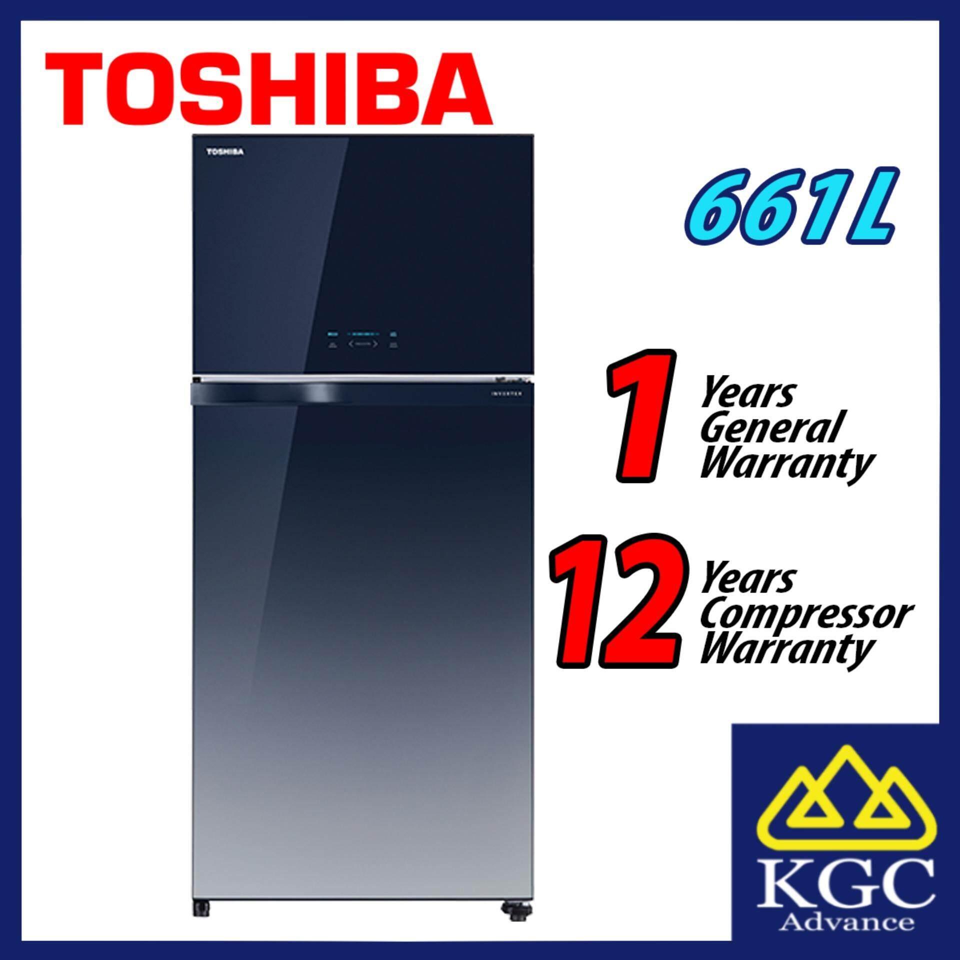 Toshiba Fridge 661L 2-Doors Inverter Refrigerator GR-AG66MA (GG)