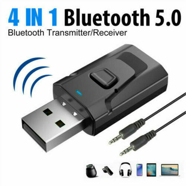 4 In 1 Bluetooth 5.0 Transmitter Receiver Transmitter Receiver USB Aux Audio Adapter Singapore