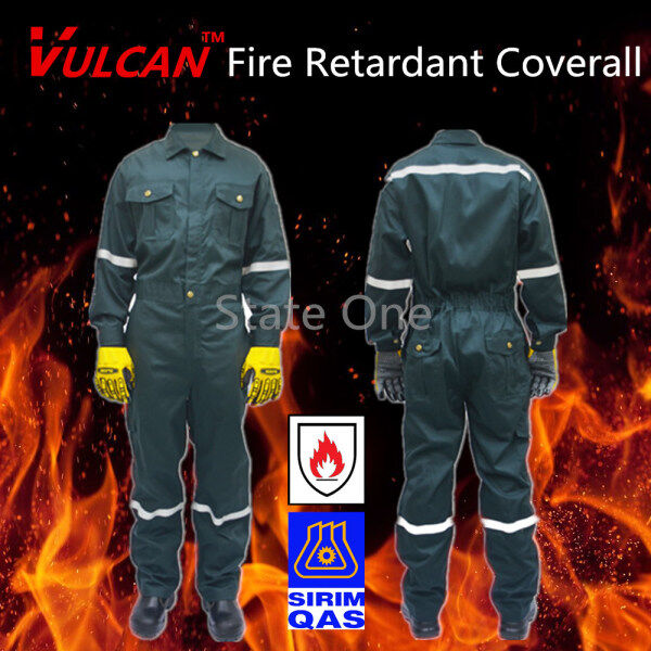VULCAN Dark Green Fire Flame Resistant Retardant SIRIM Approved / FRC Coverall Clothing Overall Workwear Safety Equipment / PPE 防火工作全套衣服