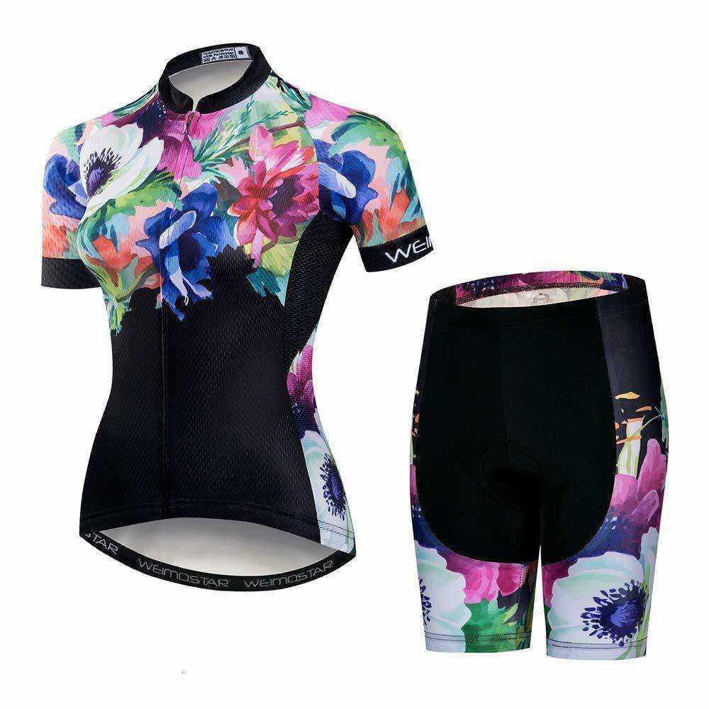 2018 MTB Weimostar Cycling Jersey Women Bicycle Short Clothing Bike Wear Tops