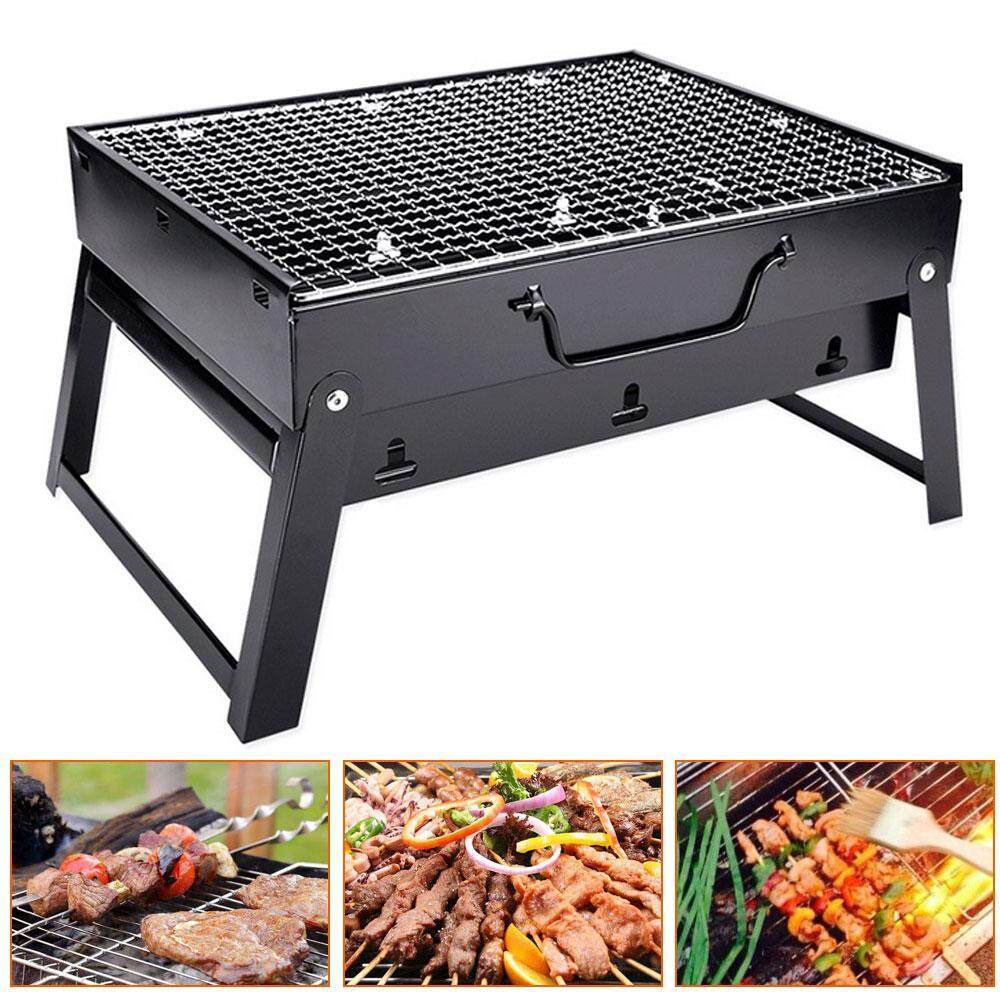 GoodGreat Thickened Stainless Steel Material Portable Foldable Charcoal Grill Outdoor Picnic Barbecue Pits