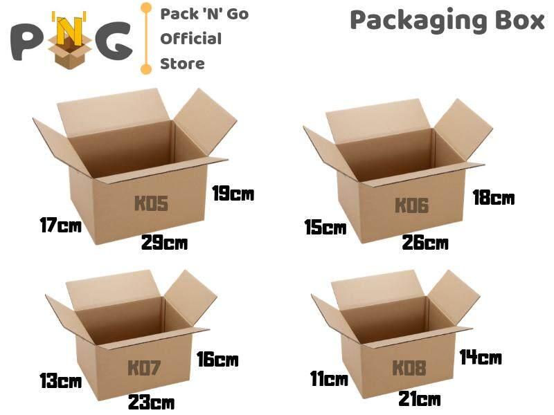 10pcs Packaging Box Packing Box Packaging Carton Box Cardboard Box Kotak  Box Parcel Box - 4 Sizes