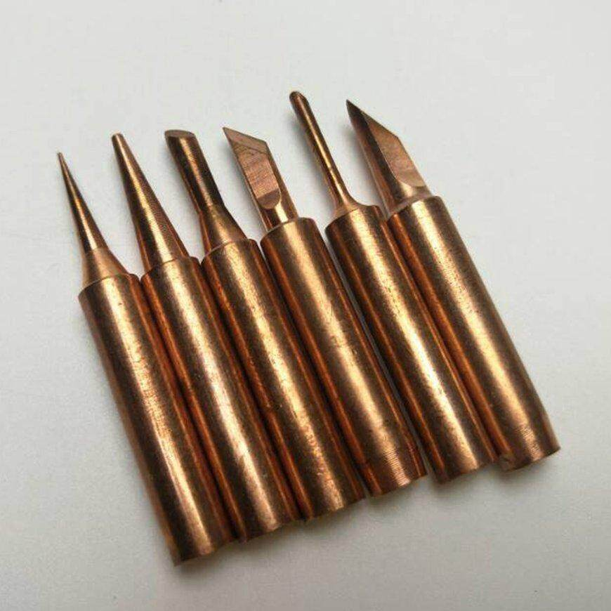 Hot Sale 6Pcs/Set Lead-Free 900M T Screwdriver Soldering Copper Tips Set