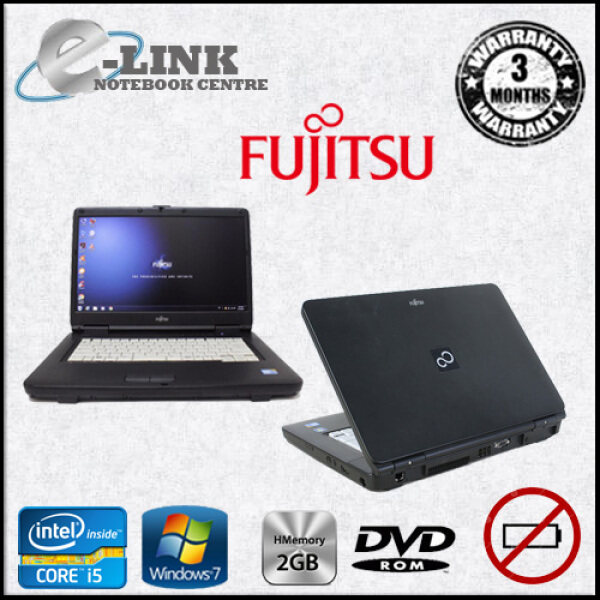 (REFURBISHED) FUJITSU A550/A LAPTOP CORE I5-520M / 2GB RAM / 250GB HDD / 15.6 INCH (NO BATTERY) Malaysia