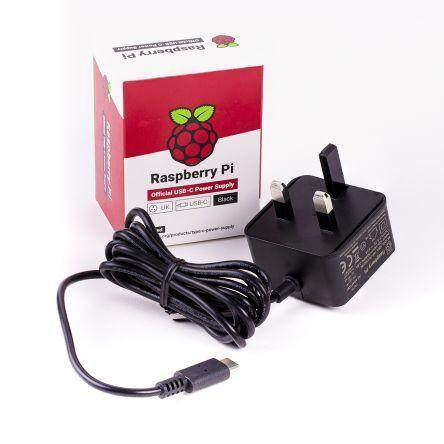 50//60Hz for Raspberry Pi 4 Official Power Supply 5V 3A USB-C Adapter Charger 100-240V