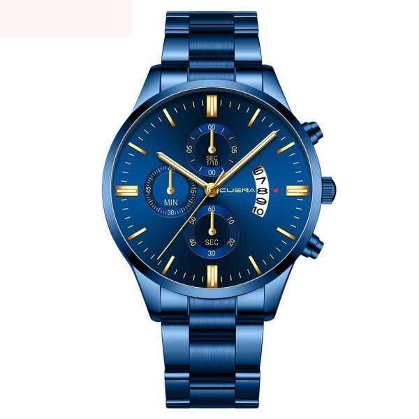 (LKJ MALL) Watch men watch for men original watch for men on sale Cuena men fashion stainless steel analog date sport quartz wrist watch Malaysia