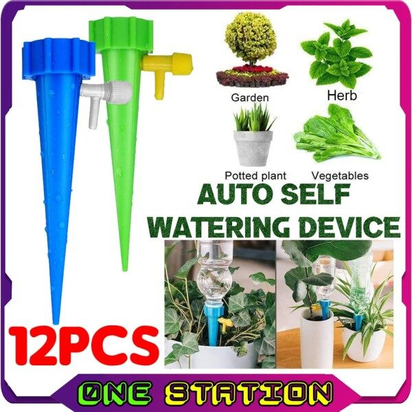 12PCS Auto Plant Self Watering Device Slow Release Watering System Automatic Device Bottle Watering