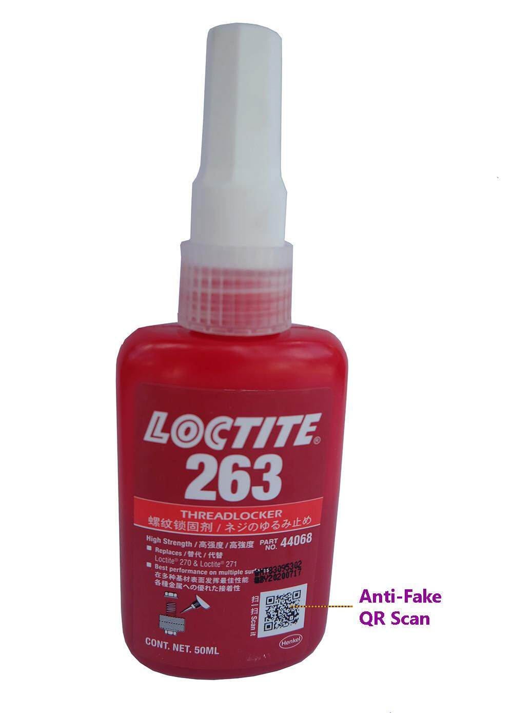Loctite 263 Screw Lock Adhesive and Anaerobic Thread Sealant Model 263 50ml High Strength
