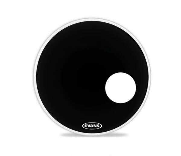 BD22REMAD Evans EMAD Resonant Black Drumhead 22 inches Made in USA Malaysia