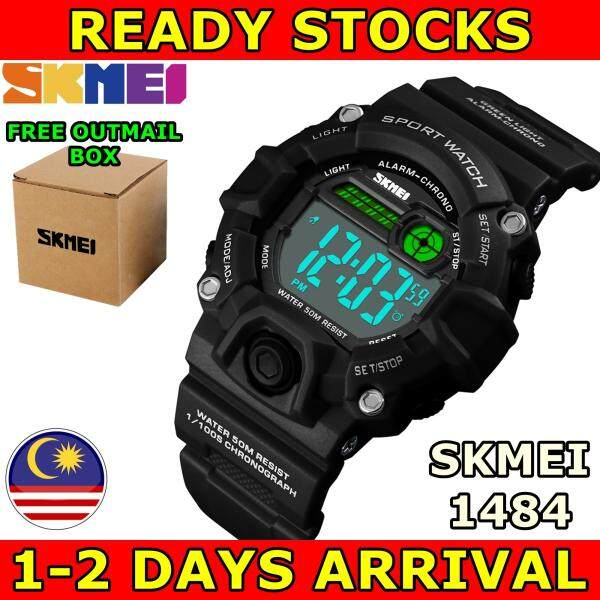 SKMEI 1484 Kids Sports Waterproof LED Display Dual Time Digital Watch Jam Tangan Lelaki Quartz Multifunction Chrono Malaysia