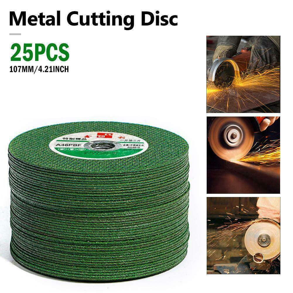 25pcs 100mm Angle Grinder Metal Cutting Discs 1.2mm Thin 4.5Steel Grinding