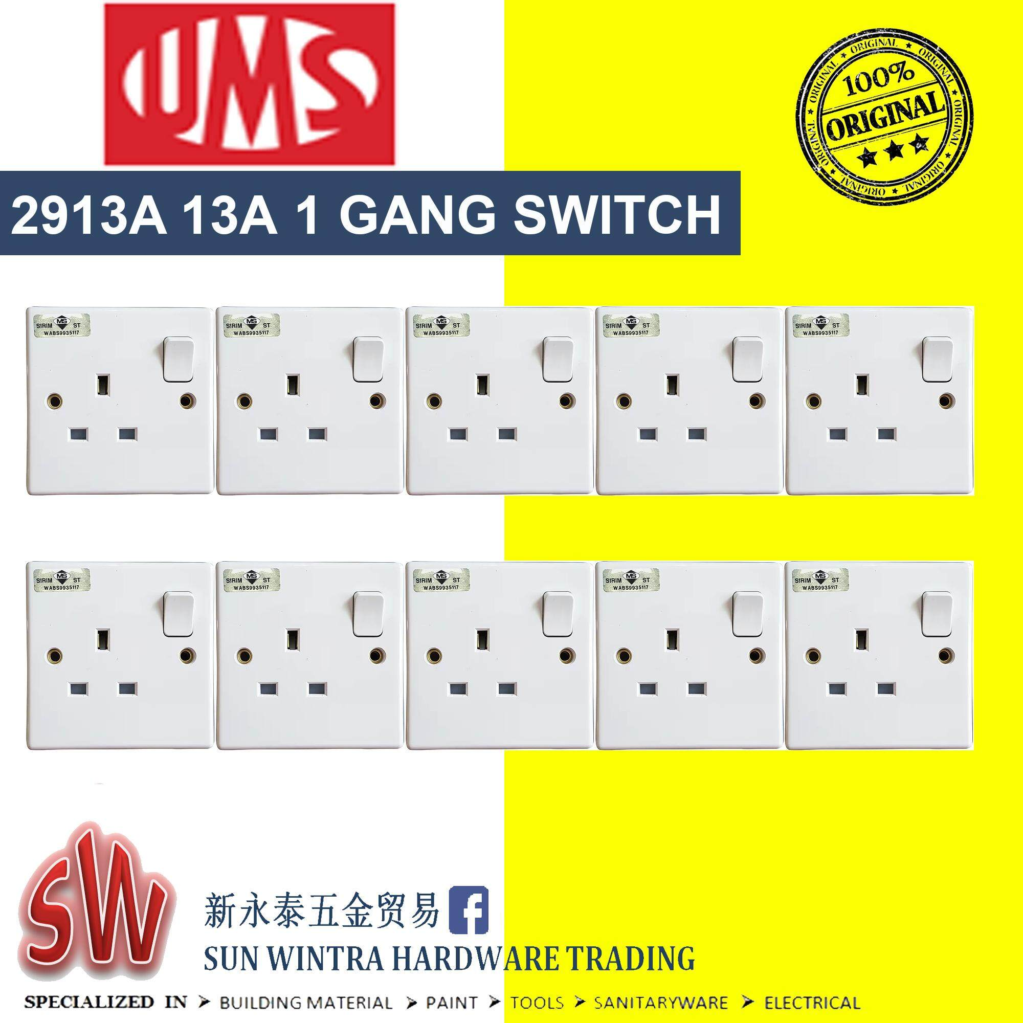 UMS 2913a 13A Switched Socket Outlet 10Pcs/Box