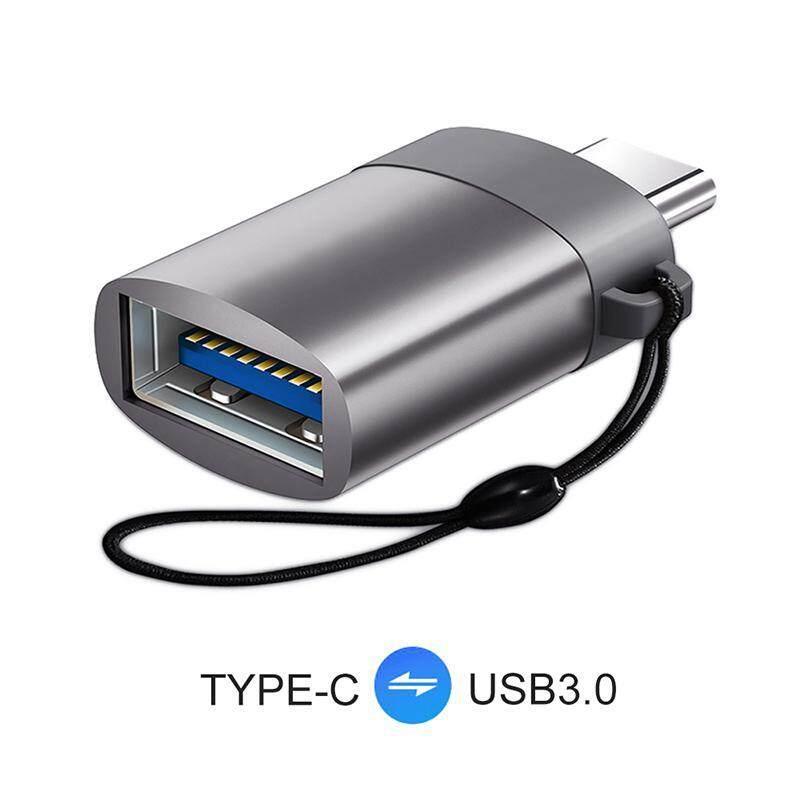 Aolvo USB Tipe C untuk USB 3.0 Adaptor OTG, Thunderbolt 3 Adaptor untuk Macbook, Chromebook, Pixelbook, untuk Galaxy S8 S9 Plus Note 8 9, Dll