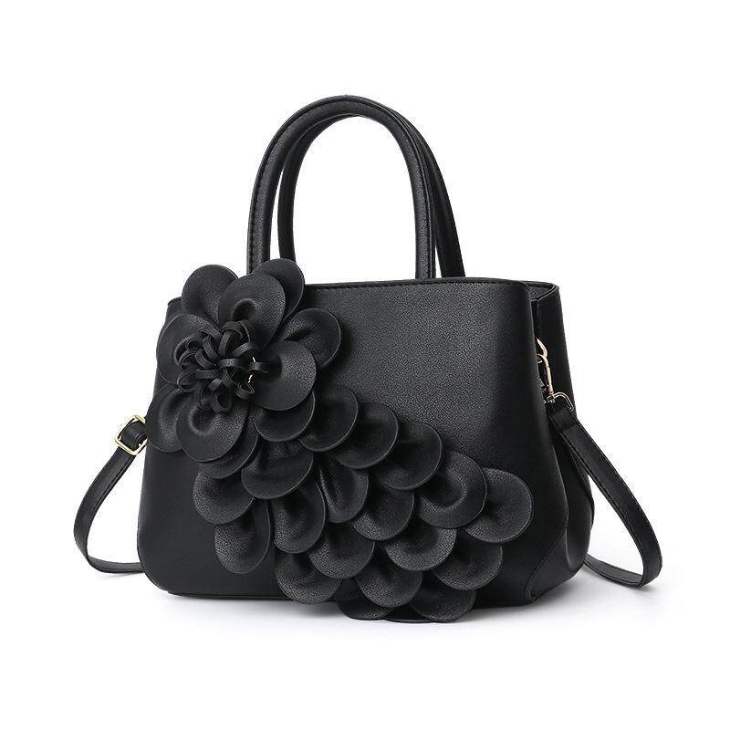 Womens bags Europe and the United States 2018 new 3D large flowers large capacity handbags shoulder bag simple fashion