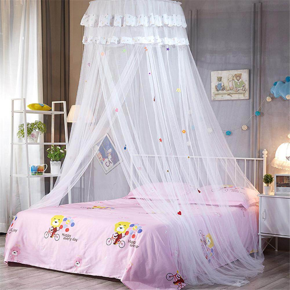 - Dome Ceiling Suspended Bed Canopy Princess Queen Mosquito Net Bed
