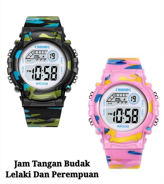 Jam Tangan Kanak Kanak / Jam Tangan Budak / Coobos Sports Watch / Multi-Function Digital Water Resistant / Jam Tangan Malaysia